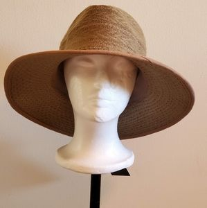 NWT! Women's Panama Hat Red or Tan